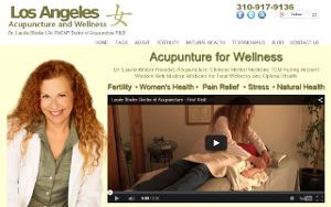 screen shot of Los Angeles Acupuncture website by nickswebworks