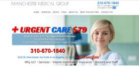 Screen Shot of urgent Care Los Angeles by nickswebworks