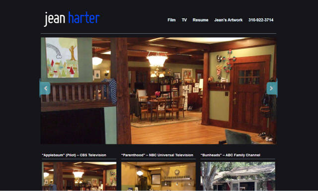 Jean Harter set designer website by Nick Sharp