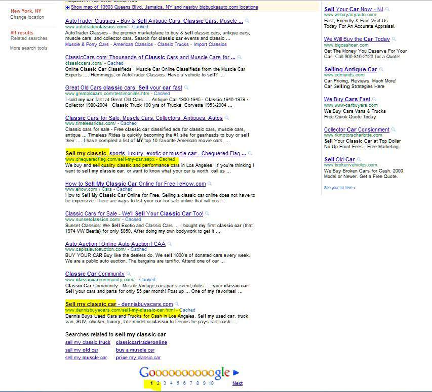 SEO Web Design Gets Top Organic SERP Where The Money Is