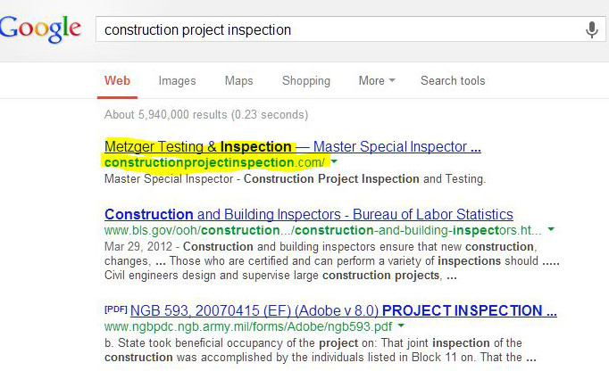 Screen shot of CTI SERP