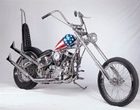 chrome harley chopper