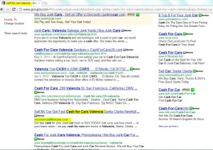 Topscreen shot of Google organic SERP in less than a week for a brand new website designed by Nick Sharpe