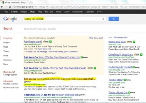 screen shot of top organic local Google SERP