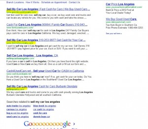 screen shot of Google search results with three nickswebworks clients on page one