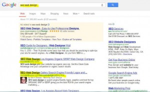NicksWebWorks gets top SERP for SEO web design